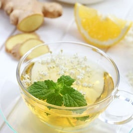 Чай с мятой и имбирём