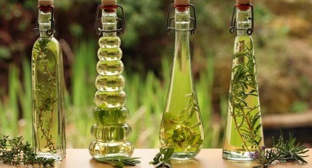 масла в красывых бутылочках